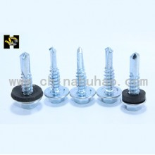 White galvanized self drilling screws