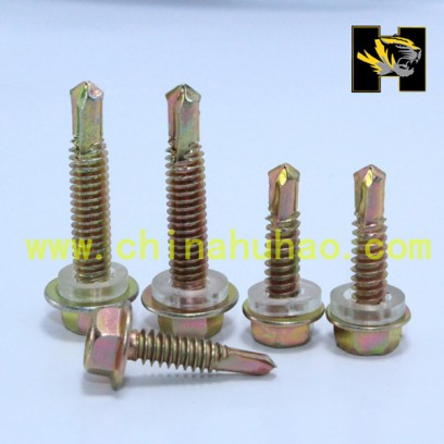 Yellow zinc galvainzed self drilling screws