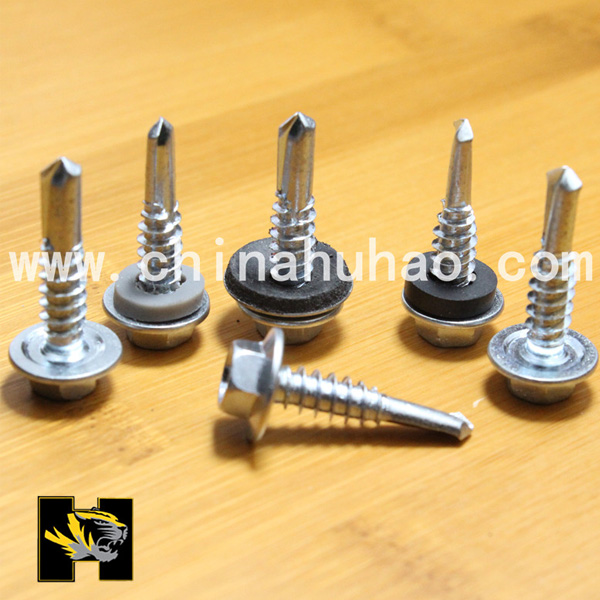 Hot dip galvanized self drilling screws