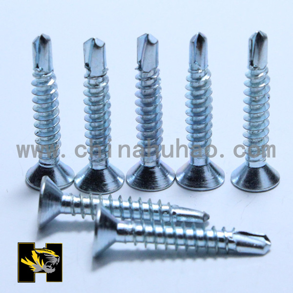 Countersunk head self drilling screws